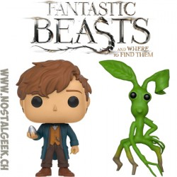 Bundle Funko Pop! Movies Fantastic Beasts 2 Newt Scamander (Egg) + Pickett Vinyl Figure