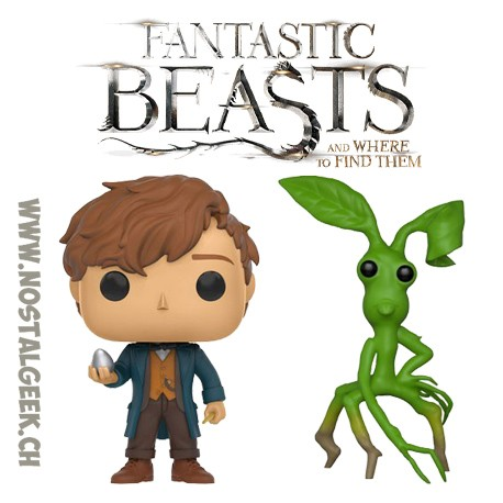 Bundle Funko Pop! Movies Fantastic Beasts Newt Scamander (Egg) +Pickett