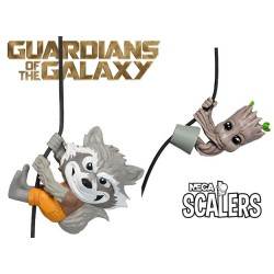 Pack Guardians of the galaxy Rocket Raccoon and Groot Neca Scalers