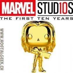 Funko Pop Marvel Studio 10th Anniversary Gamora (Gold Chrome) Exclusive Vinyl Figure
