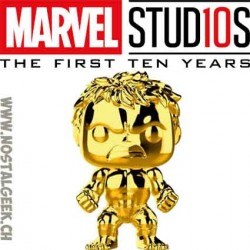 Funko Pop Marvel Studio 10th Anniversary Hulk (Gold Chrome) Exclusive Vinyl Figure