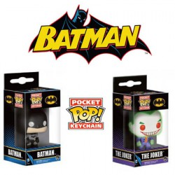 Pack Funko Pop! Pocket Keychain Batman Et Joker DC Comics