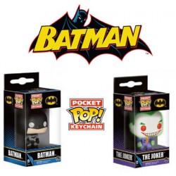 Pack Funko Pop! Pocket Keychain Batman Et Joker DC Comics