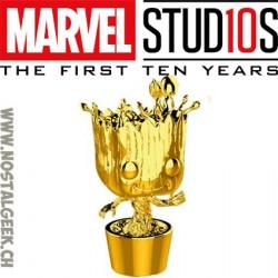 Funko Pop Marvel Studio 10th Anniversary Groot (Gold Chrome) Edition Limitée