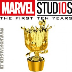 Funko Pop Marvel Studio 10th Anniversary Groot (Gold Chrome) Exclusive Vinyl Figure