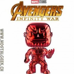Funko Pop Marvel Avengers Infinity War Thanos (Red Chrome) Editions Limitée