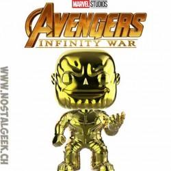 Funko Pop Marvel Avengers Infinity War Thanos (Yellow Chrome) Exclusive Vinyl Figure