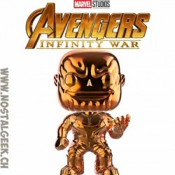 Funko Pop Marvel Avengers Infinity War Thanos (Yellow Chrome) Exclusive Vinyl Figure