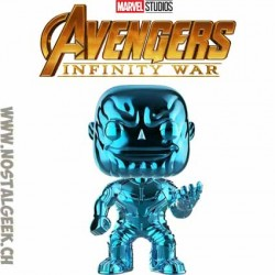 Funko Pop Marvel Avengers Infinity War Thanos (Blue Chrome) Exclusive Vinyl Figure
