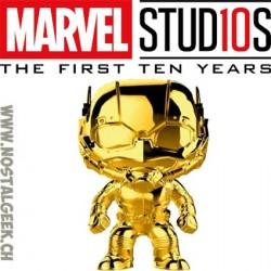 Funko Pop Marvel Studio 10th Anniversary Ant-Man (Gold Chrome) Exclusive Vinyl Figure