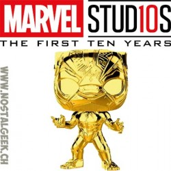 Funko Pop Marvel Studio 10th Anniversary Black Panther (Gold Chrome) Edition Limitée