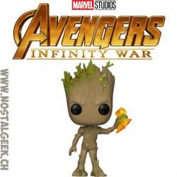 Funko Pop Marvel Avengers Infinity War Groot with Stormbreaker Vinyl Figure