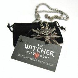 Collier The Witcher 3 White Wolf Wild Hunt