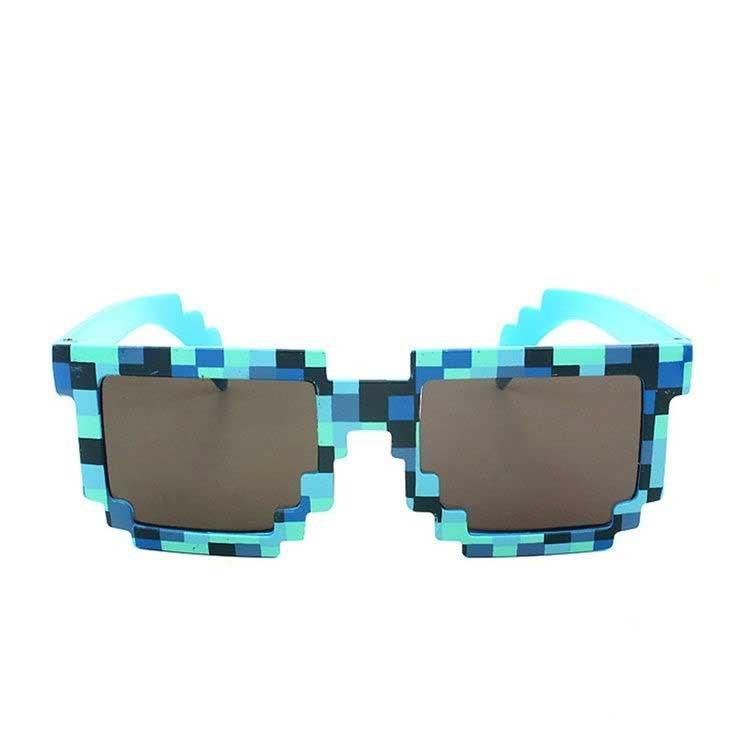 080d83fe9f Jeux Vidéo Sun Glasses like Minecraft Blue geek suisse shop