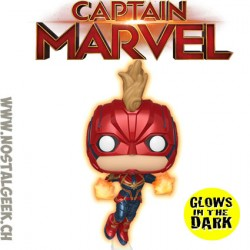 Funko Pop MarvelCaptain Marvel (Flying) Phosphorescent Edition Limitée