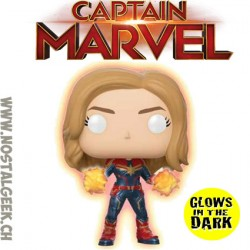 Funko Pop Marvel Captain Marvel GITD Exclusive Vinyl Figure