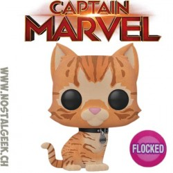 Funko Pop Marvel Captain Marvel Goose Flocked Exclusive Vinyl Figure