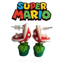 Boucles d'oreilles Super Mario plante carnivore piranha Mario