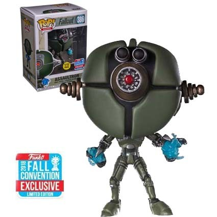 Fallout Assaultron Fall Convention Exclusive Figure Funko Pop