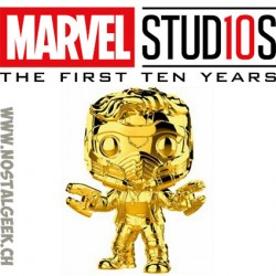 Funko Pop Marvel Studio 10th Anniversary Star-Lord (Gold Chrome) Edition Limitée