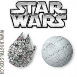 Star Wars Lots d'aimant Millenium Falcon et Death Star