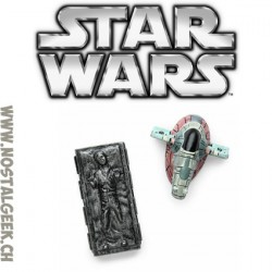 Star Wars Lots d'aimant Han Solo dans la Carbonite et Slave 1