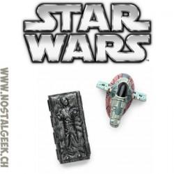 Star Wars Lots d'aimant Han Solo dans la Carbonite et Slave 1