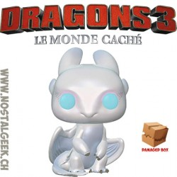 Funko Pop! How to Train Your Dragon 3 Light Fury Boîte abîmée