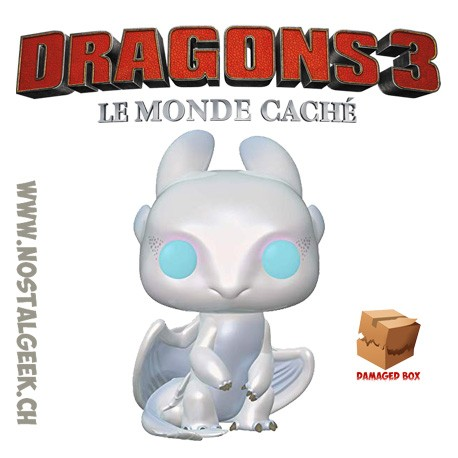 Funko Pop! How to Train Your Dragon 3 Light Fury Boîte abîmée
