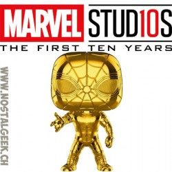 Funko Pop Marvel Studio 10th Anniversary Iron Spider (Gold Chrome) Edition Limitée