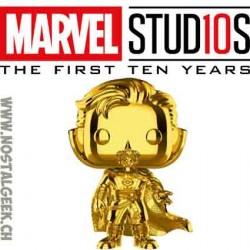 Funko Pop Marvel Studio 10th Anniversary Doctor Strange (Gold Chrome) Edition Limitée