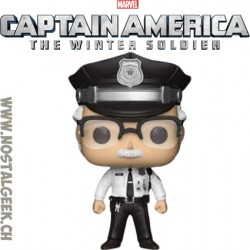 Funko Pop Marvel Captain America Winter Soldier Stan Lee (Smithsonian Guard) Exclusive Vinyl Figure