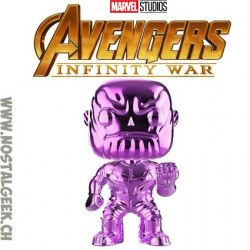 Funko Pop Marvel Avengers Infinity War Thanos (Purple Chrome) Exclusive Vinyl Figure