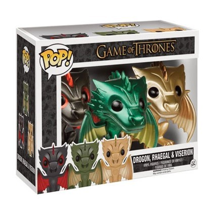 Toy Pop Game Of Thrones Metallic Dragons Pack Limited Edition Geek