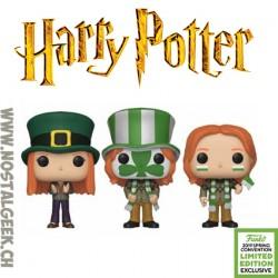 Funko Pop ECCC 2019 Harry Potter Ginny Weasley, Fred Weasley & George Weasley (Quidditch World Cup 3-Pack)