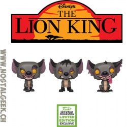 Funko Pop ECCC 2019 Lion King Banzai, Shenzi & Ed (3-Pack) Exclusif