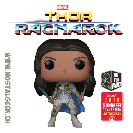 Toy Funko Pop Marvel Sdcc 2018 Thor Ragnarok Valkyrie Battle Outfi