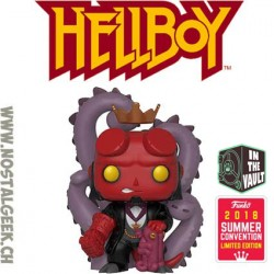 Funko Pop SDCC 2018 Comics Hellboy in Suit Exclusive Flocked Vinyl Figure