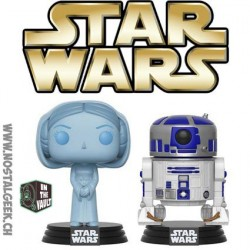 Funko Pop SDCC 2017 Star Wars Holographic Princess Leia & R2-D2 Edition Limitée