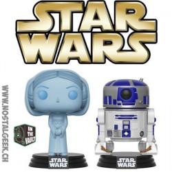 Funko Pop SDCC 2017 Star Wars Holographic Princess Leia & R2-D2 Edition Limitée