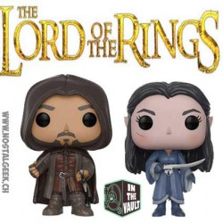 Funko Pop SDCC 2017 Lord of the Rings Aragorn & Arwen 2-pack Vinyl Figure