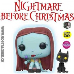 Pop Disney L'Étrange Noël de Monsieur Jack - Sally seated GITD With Flocked Cat Edition Limitée