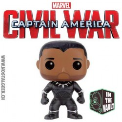 Funko Pop! Marvel Captain America Civil War - Black Panther Unmasked Exclusive Vynil Figure