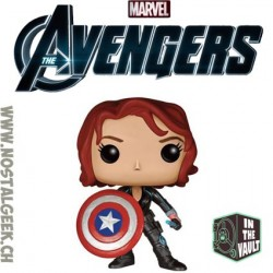 Funko Pop! Marvel Black Widow with Captain America's shield Vaulted