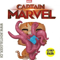 Funko Pop Marvel Captain Marvel Goose Flocked Exclusive Vinyl Figure