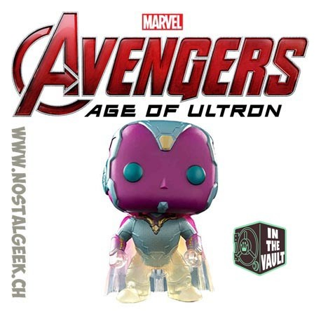 Funko Pop! Marvel Avengers Age Of Ultron Vision (Faded) Exclusive Vaulted Vinyl Figure