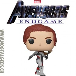 Funko Pop Marvel Avengers Endgame Black Widow (Quantum Realm Suit) Vinyl Figure
