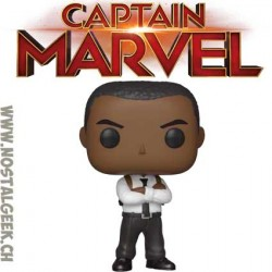 Funko Pop Marvel Captain Marvel Nick Fury Vinyl Figure