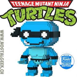 Funko Pop Teenage Mutant Ninja Turtles 8-bit Leonardo (Neon Blue) Edition Limitée