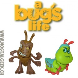 Bundle Funko Disney Mystery Minis Heroes Vs. Villains A Bug's Life Hopper and Heimlich Vinyl Figure